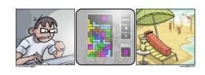 Tetris – every damn time.