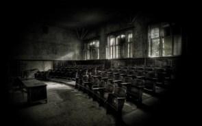 Abandoned classroom wallpaper
