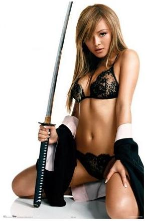 Tila Tequila with a Sword