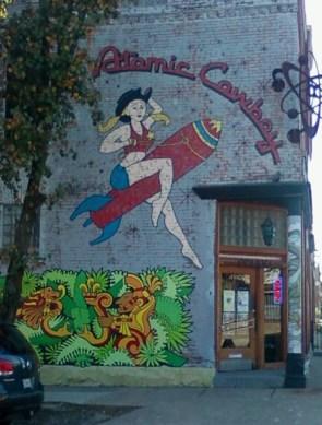 Atomic Cowboy's sign