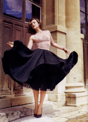 Milla Jovovich in a Skirt