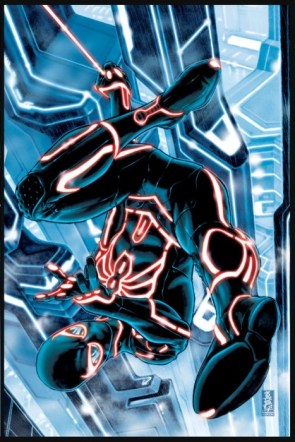 """Marvel Universe """"TRON-ified"""""""