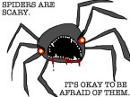 spiders are scary