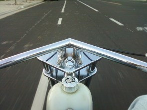 mini chopper ride shots + no fenders