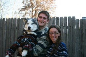 Doggy sweater family portrait