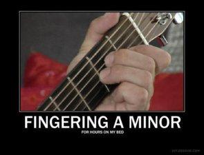 Fingering a minor