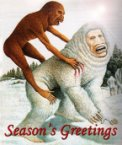 Evil monkey seasons greetings