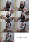 Brushing like a man