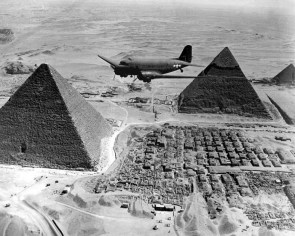DC 3 over the pyramids