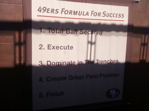 49ers formula for success