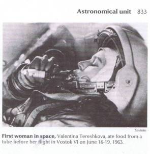Valentina Tereshkova eating