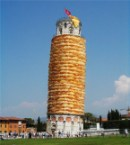 The Famous Leaning Tower of Pizza