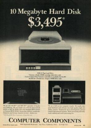 10 megabyte hard disk – $3,495