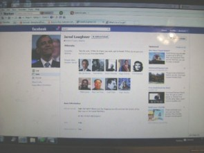 Jared Loughner's FB home page