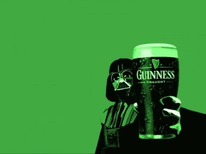 Darth Vader Drinks Guinness