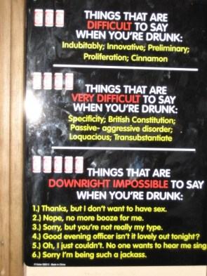 Things That Are Difficult/ Very Difficult/ Downright Impossible To Say When You're Drunk