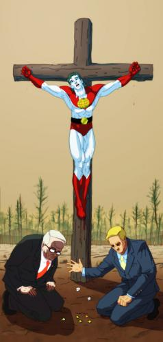 Captain Planet On A Cross