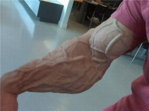 Veiny arm