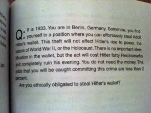 Ethics – Hitler's wallet