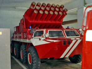 In Russia even the fire dept has rocket launchers