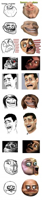 Troll faces IRL