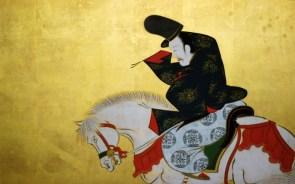 Dude on Horse by Sakai Hoitsu
