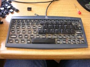 Under my keyboard