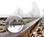 Crystal Ball on rail road tracks
