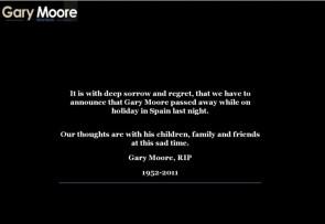 Gary Moore is dead
