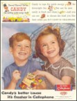 Buy candy in cellophane vintage ad