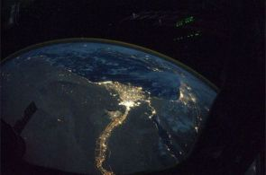 Nile Delta at night