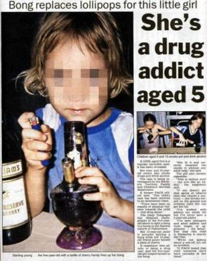 5 year old stoner