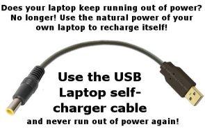 USB Laptop Recharger