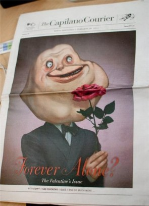 Forever Alone hits the papers