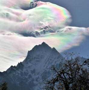 Iridescent cloud over the Himalaya