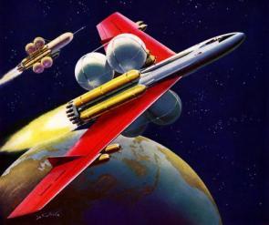 Retro Sci-Fi Nuclear Rockets