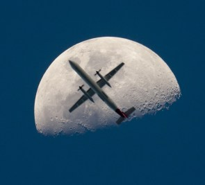 The Moon and a Plane