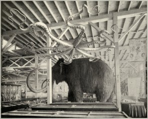 Mammoth and Giant Octopus