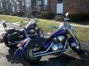 Honda vtx1800 and shadow750