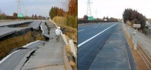 Japanese road fixed in six days