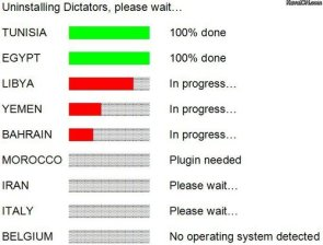 Uninstaling Dictaters, Please Wait….
