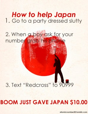 How to help Japan (for the ladies)