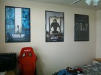 Movie posters framed.