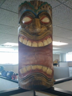 Tiki God Carving