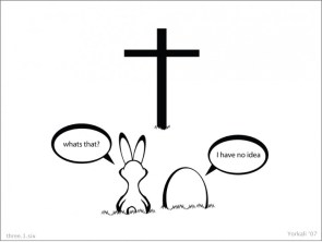 Easter bunny conversation
