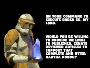 Commander Cody gets a Clue.
