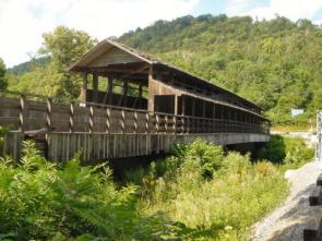 Old Bedford Village and Claycomb Covered Bridge.
