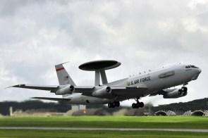 AWACS on takeoff