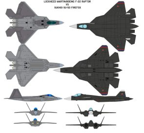 f-22 vs pak-50