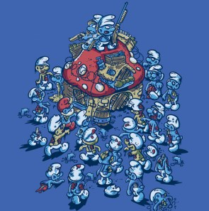 Smurf zombies